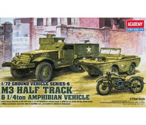 โมเดลรถทหาร WWII US Ground Vehicle 3pieces 1/72