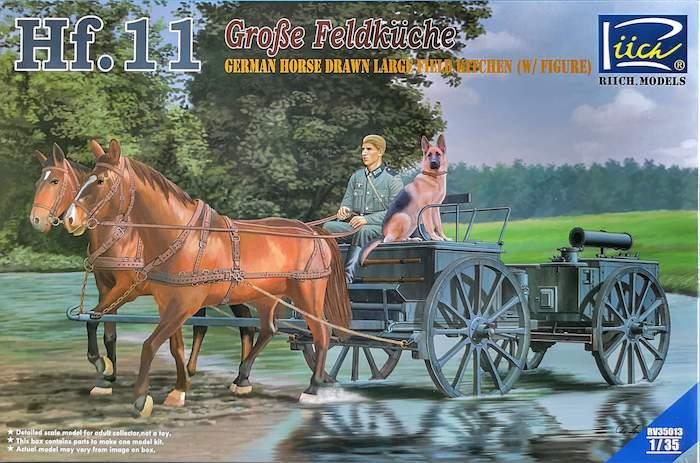โมเดลทหารม้า German Horse Drawn Hf.11 Large Field Kitchen w/ Figure