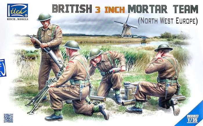โมเดลฟิกเกอร์ British 3 inch Mortar Team set