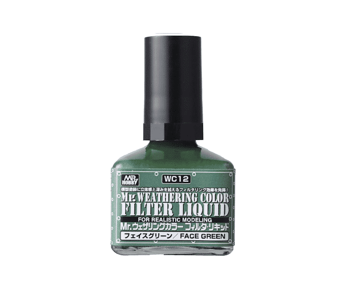 สีเฉดเขียว Mr.WEATHERING FACE GREEN WC12