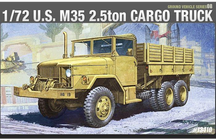 โมเดลรถทหาร U.S.M35 2.5ton CARGO TRUCK (1/72)