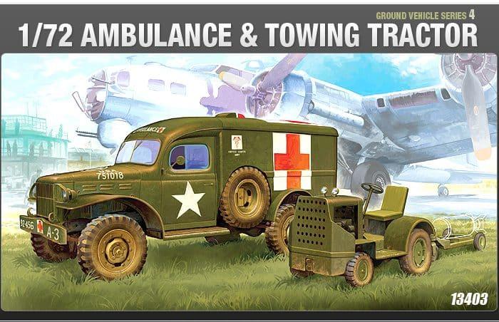 โมเดลรถพยาบาลทหาร WWII GROUND VEHICLE SET- 4 U.S.(1/72)