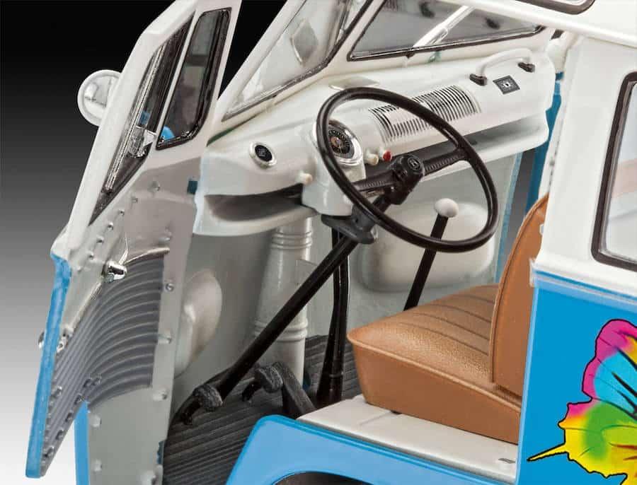 """โมเดลรถโฟล์คตู้ VW T1 Samba Bus """"Flower Power"""" 1/24"""