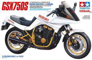 โมเดลมอเตอร์ไซค์ซูซูกิ Suzuki GSX750S new Katana 1/12