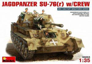 โมเดลรถถัง JAGDPANZER SU-76(r) w/CREW 1:35
