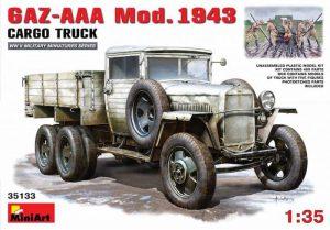 โมเดลรถทหาร GAZ-AAA Mod. 1943. CARGO TRUCK 1:35