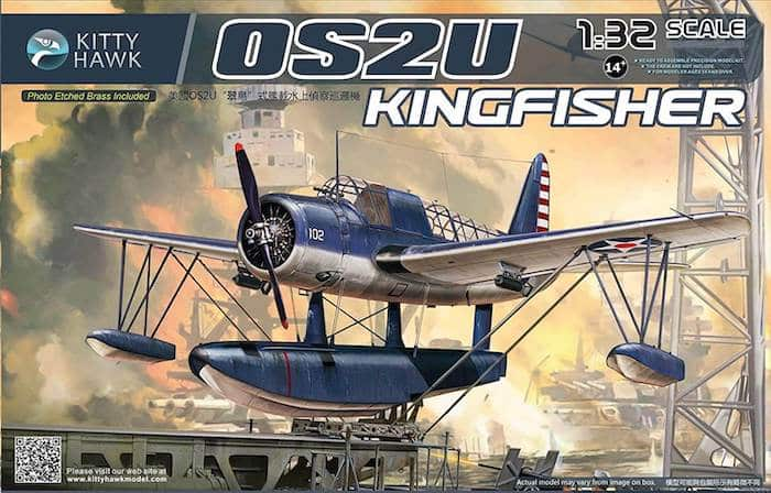 โมเดลเครื่องบิน Kittyhawk Vought OS2U Kingfisher (1/32)