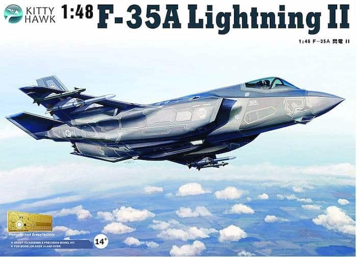 โมเดลเครื่องบิน KittyHawk F-35A Lightning II (1/48)