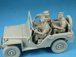 โมเดลรถจิ๊บพร้อมทหาร BRITISH STAFF CAR w/CREW 1:35