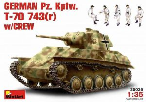 โมเดลรถถัง GERMAN Pz. Kpfw. T-70 743(r) w/CREW 1:35