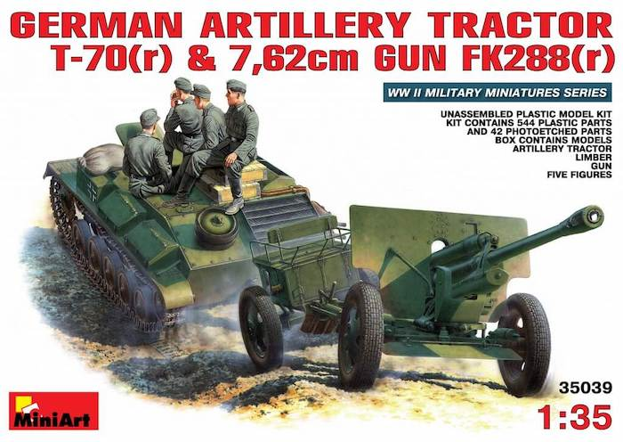 รถถัง Miniart 35039 GERMAN ARTILLERY TRACTOR T-70 1:35