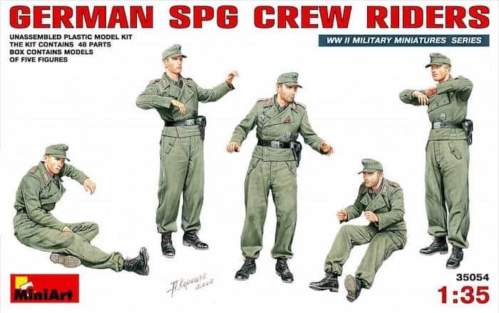 ฟิกเกอร์ MINIART 35054 GERMAN SPG CREW RIDERS 1/35