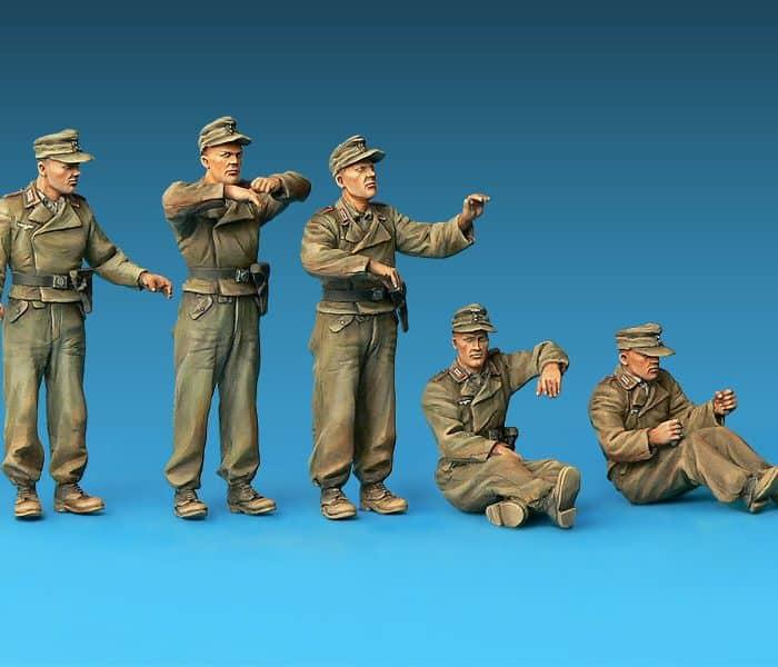 โมเดลฟิกเกอร์ GERMAN SPG CREW RIDERS 1/35