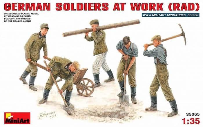 โมเดลฟิกเกอร์ GERMAN SOLDIERS AT WORK (RAD) 1:35