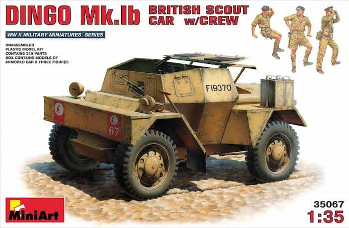 โมเดลรถทหาร DINGO Mk.1b BRITISH SCOUT CAR w/CREW 1:35