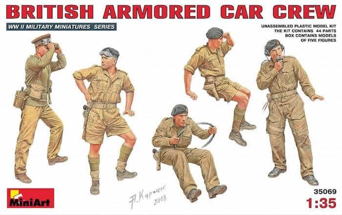 โมเดลฟิกเกอร์ BRITISH ARMORED CAR CREW 1:35
