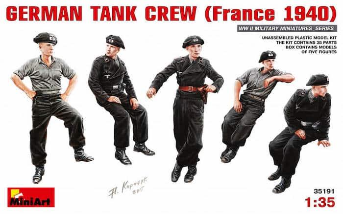 โมเดลฟิกเกอร์ GERMAN TANK CREW (France 1940) 1:35