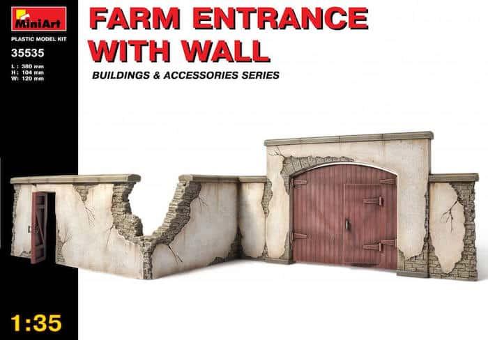 โมเดลฉาก FARM ENTRANCE WITH WALL 1:35