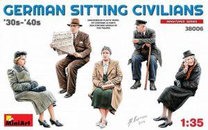 โมเดลฟิกเกอร์พลเมือง GERMAN SITTING CIVILIANS '30s-'40s 1:35