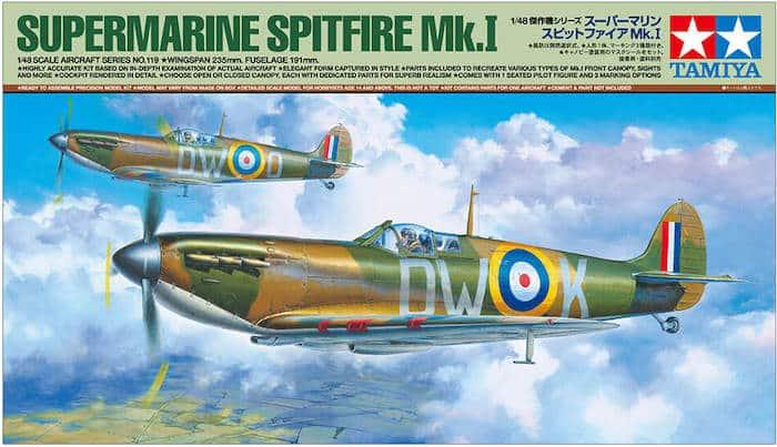 โมเดลเครื่องบิน SUPERMARINE SPITFIRE Mk.I 1/48