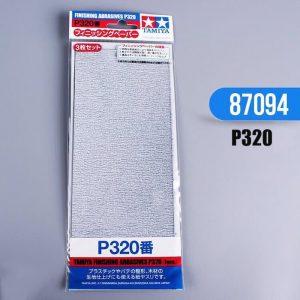 กระดาษทราย ทามิย่า Finishing Abrasives P320 3 แผ่น