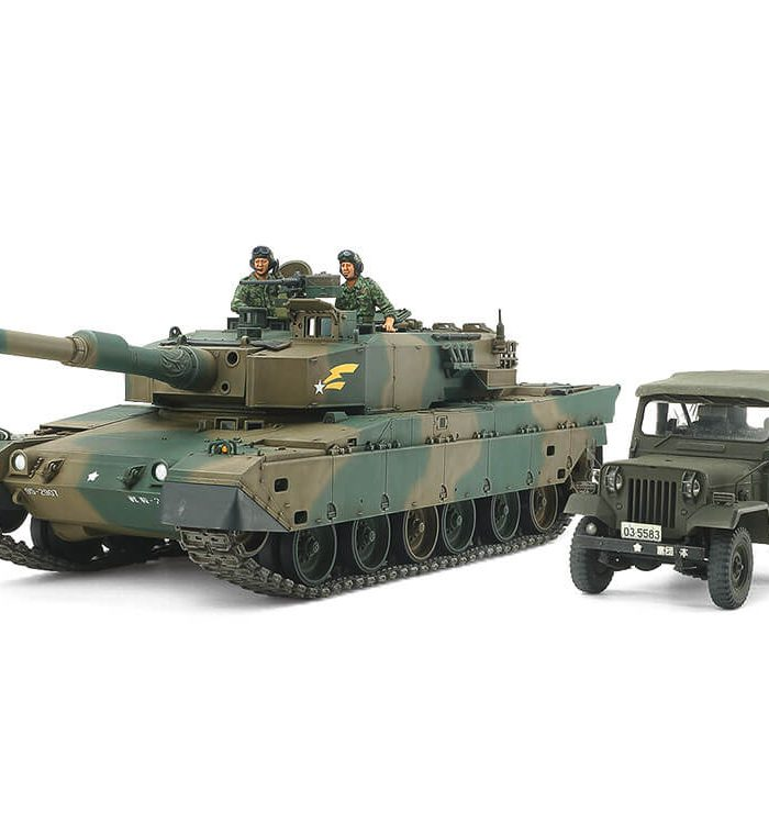 โมเดลรถถัง JGSDF Type90 Tank & Type73 Light Truck Set 1/35