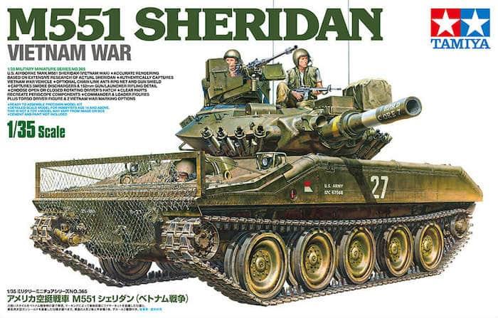 โมเดลรถถัง U.S. M551 SHERIDAN (VIETNAM WAR) 1:35