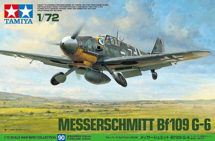 โมเดลเครื่องบินใบพัด MESSERSCHMITT BF109 G-6 1/72