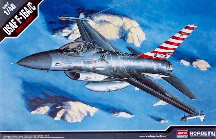 เครื่องบิน บ.ข.19 ACADEMY 12259 F-16 A/C 1/48