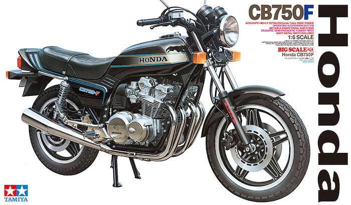 โมเดลรถมอเตอร์ไซค์ ฮอนด้า ทามิย่า Honda CB750F 1/6