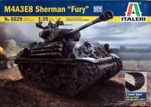 """โมเดลรถถังฟิวรี่ ITALERI M4A3E8 SHERMAN """"FURY"""" 1:35"""