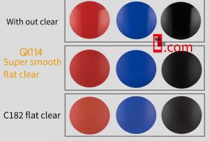 สีเคลียร์ด้าน GX114 SUPER SMOOTH CLEAR (FLAT)