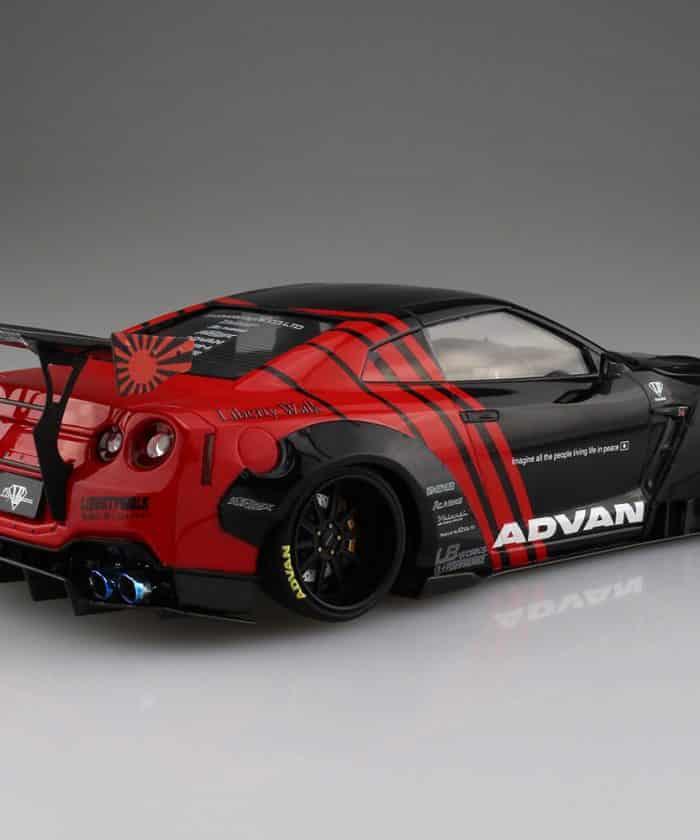 โมเดลนิสสัน Aoshima R35 GT-R type 2 Ver.2 ADVAN 1:24