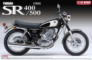 โมเดลรถเอสอาร์ Aoshima Yamaha SR400/500 ปี 96 1/12