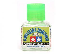 กาวฝาเขียว (อ่อน) TAMIYA 87182 Extra Thin Cement 40ml Quick Setting