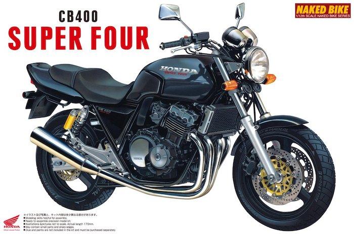 โมเดลรถฮอนด้า HONDA CB400SF(BLACK) 1:12