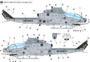 โมเดลเฮลิคอปเตอร์ Academy AC12127 USMC AH-1Z