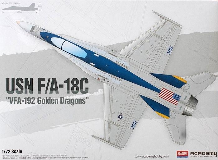 """โมเดลเครื่องบิน AC12564 USN F/A-18C """"VFA-192 GOLDEN DRAGONS"""" 1/72"""