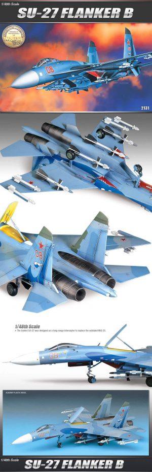 โมเดลเครื่องบิน Academy 12270 SU-27 FLANKER B 1/48