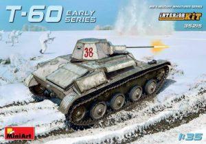 โมเดลรถถัง MINIART MI35215 T-60 SOVIET LIGHT TANK 1/35