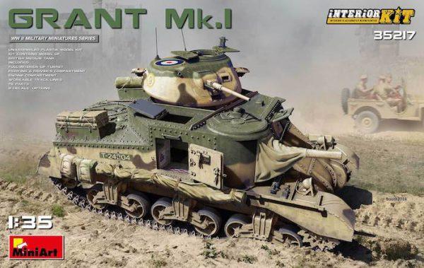 โมเดลรถถัง MINIART MI35217 GRANT Mk.I INTERIOR KIT 1/35