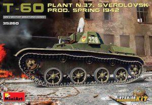 โมเดลรถถัง MI35260 T-60 PLANT N.37 INTERIOR KIT 1/35