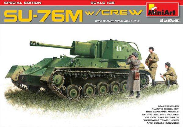 โมเดลรถถัง MI35262 SU-76M w/Crew SPECIAL EDITION 1/35