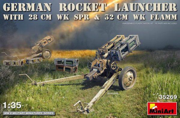 โมเดลปืนใหญ่ MI35269 GERMAN ROCKET LAUNCHER with 28cm 1/35