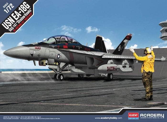 """โมเดลเครื่องบิน AC12560 USN EA-18G VAQ-141""""SHADOW HAWKS"""" 1/72"""