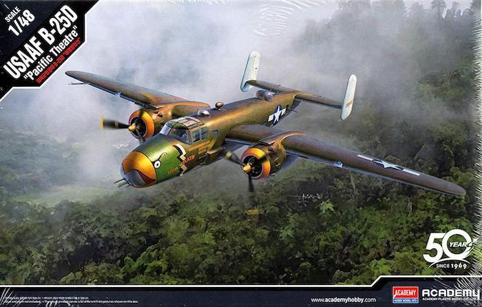 """โมเดลเครื่องบิน AC12328 USAAF B-25D """"PACIFIC THEATRE"""" 1/48"""