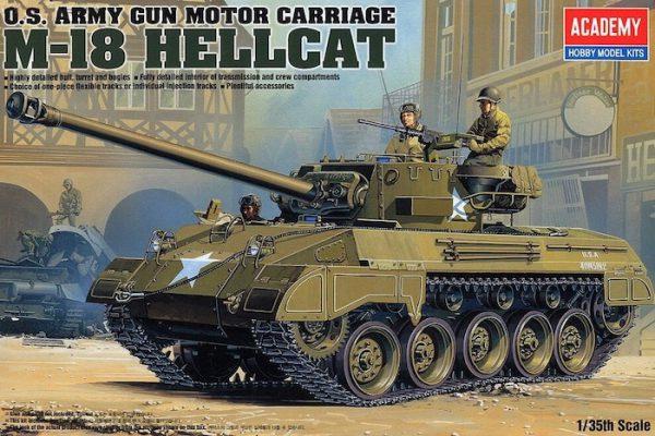 โมเดลรถถัง AC13255 US ARMY M-18 HELLCAT 1/35