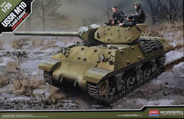 """โมเดลรถถัง AC13521 USSR M10""""LEND-LEASE"""" 1/35"""