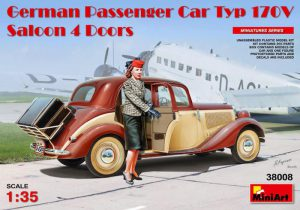 MI38008 GERMAN PASSENGER CAR TYP 170V SALOON 4 DOORS 1/35