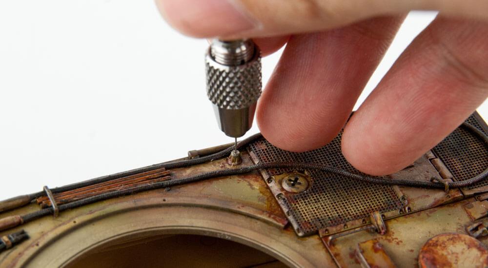 สว่านมือคุณภาพสูง TAMIYA 74050 Fine Pin Vise (0.1-3.2 mm)